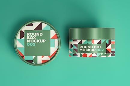 Round Box Mockup 002
