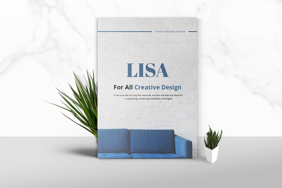 Lisa - Furniture Magazine Template - product preview 0