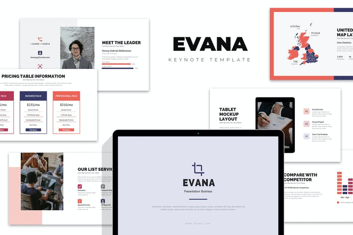 Thumbnail for Evana : Professional Marketing Clean Keynote