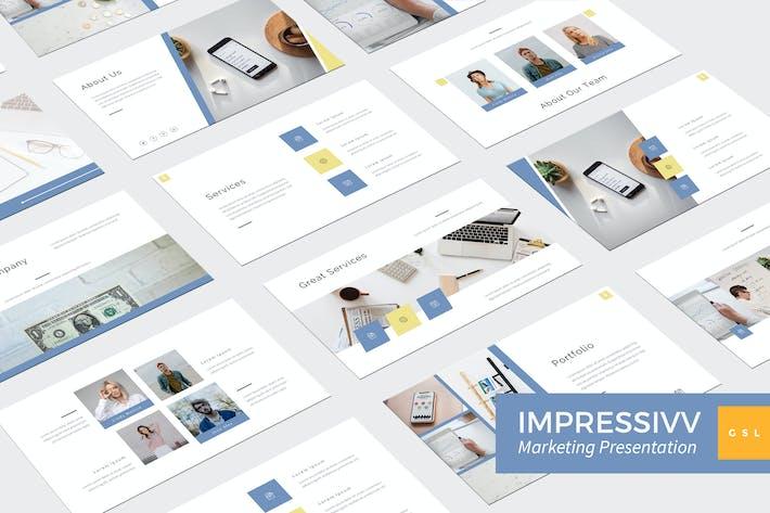 Thumbnail for Impressivv - Marketing Google Slides Template