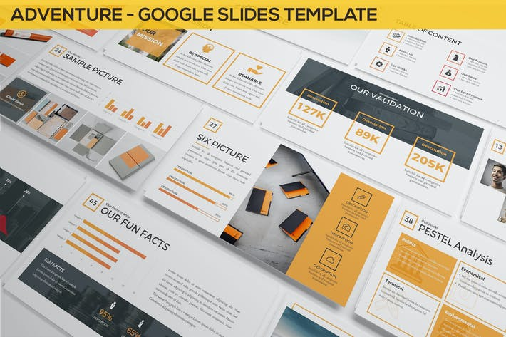 Cover Image For Adventure - Google Slides Template Presentation