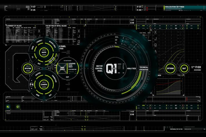 Thumbnail for 600+ Sci-fi Interface HUD Elements