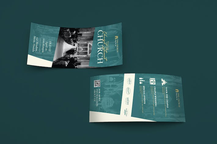 Thumbnail for Church DL Rackcard Plantilla PSD