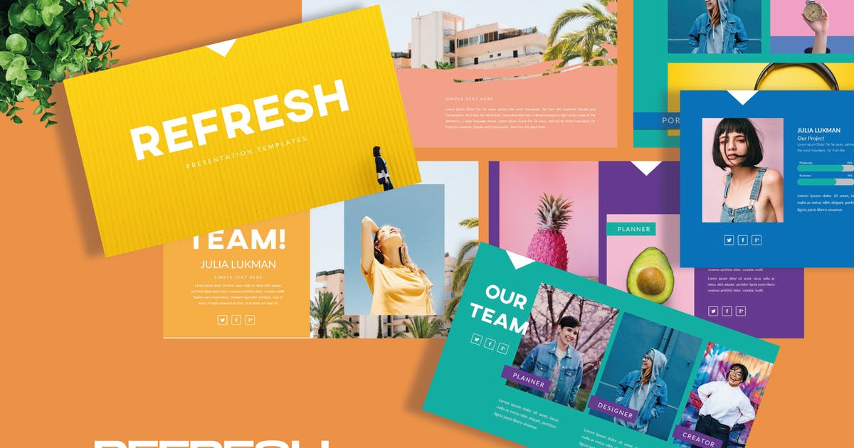 Download Refresh Keynote Template - LS by templatehere