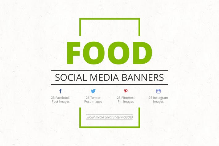 Thumbnail for Food Social Media Banners