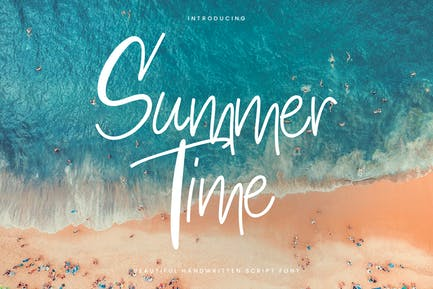 Summertime - Thin Casual Script Font