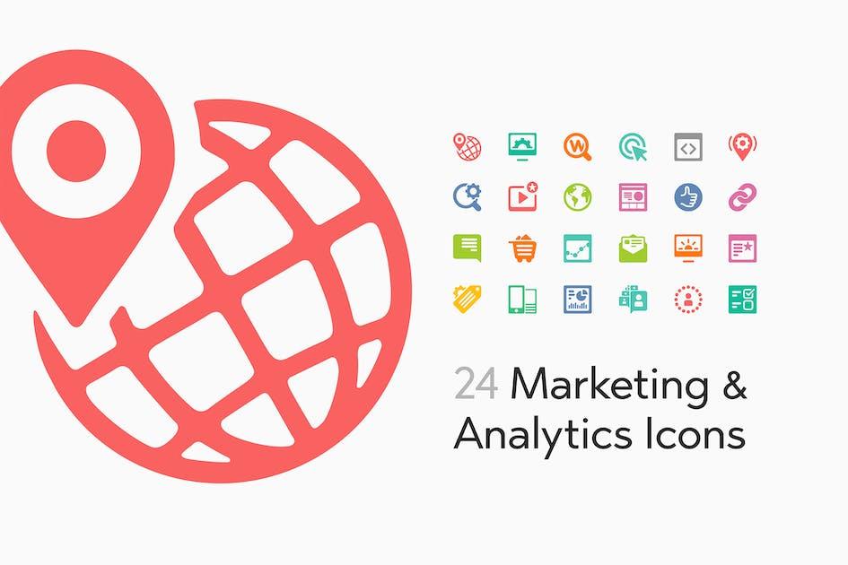 Download 24 Marketing and Analytics Icons by Yuriy_Kondratkov
