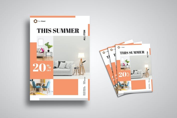 Cover Image For Promo Minimalist Furniture Flyer