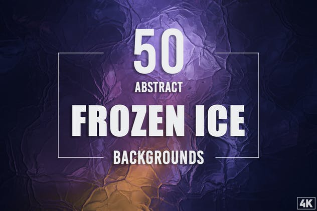 50 Abstract Frozen Ice Backgrounds