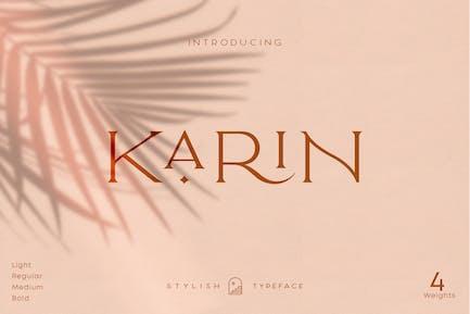 Elegant Karin - Fashion Stylish Tipo de letra