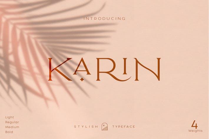 Karin élégant - police de caractères tendance