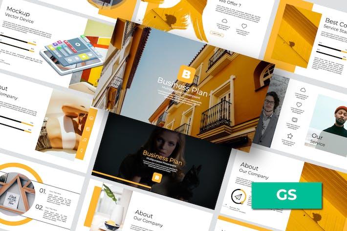 Thumbnail for Business Plan Google Slide