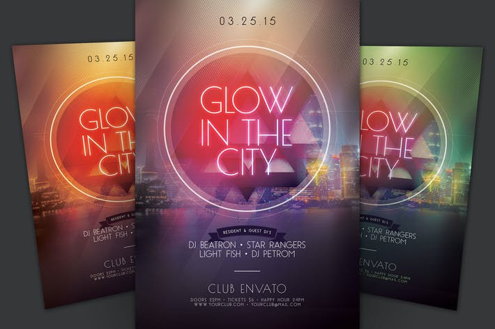 Thumbnail for Glow In the City Flyer