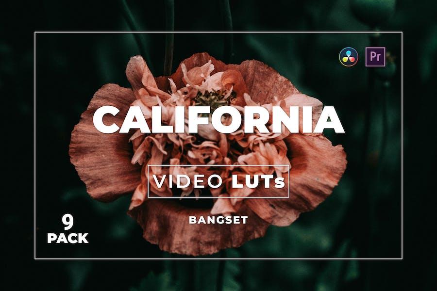 Bangset California Pack 9 Video LUTs