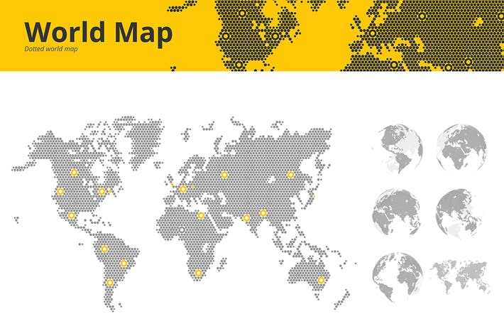 Thumbnail for Business dotted world map