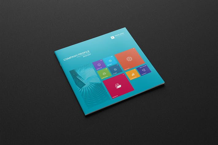 "Thumbnail for Company Profile Square Brochure ""Windows"""