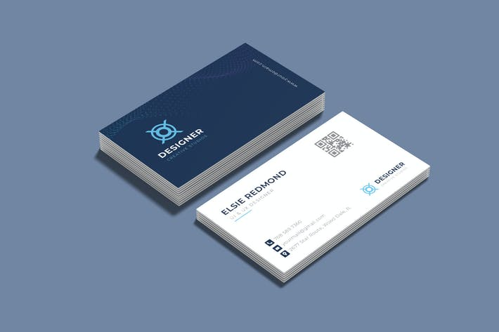 Thumbnail for Blue Business Visit Card
