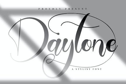 Daytone | Police de script styliste