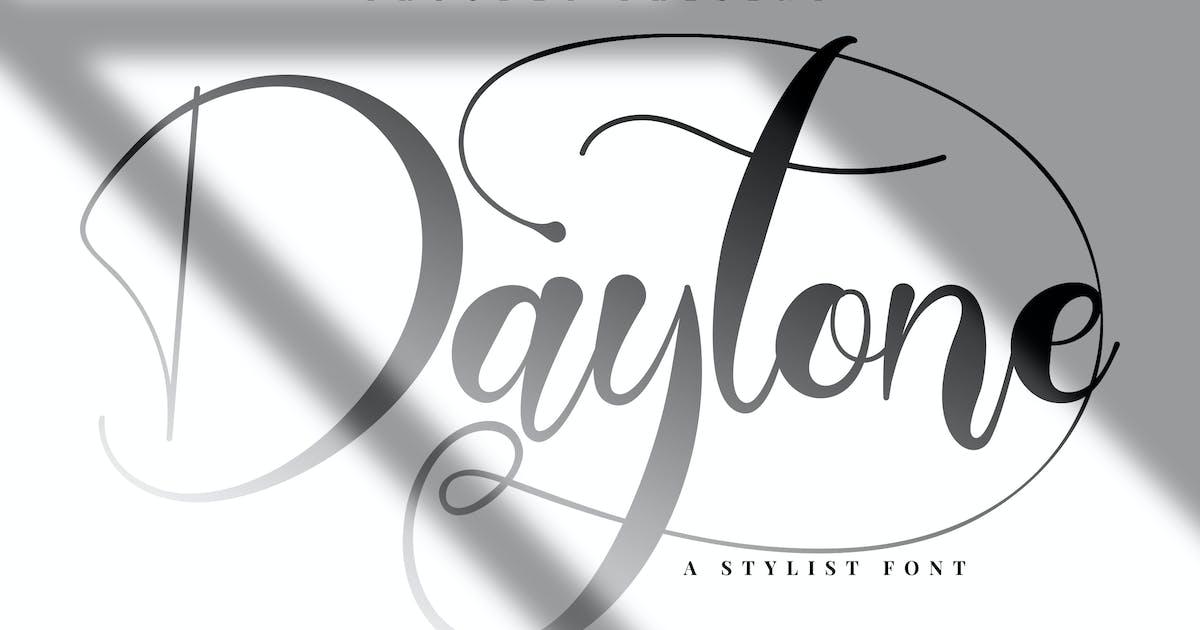 Download Daytone   Stylist Script Font by Vunira