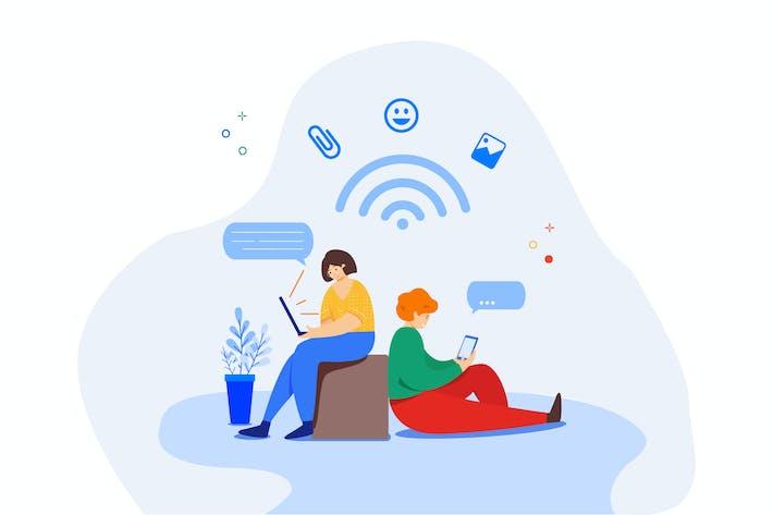 Chatten mithilfe von Apps