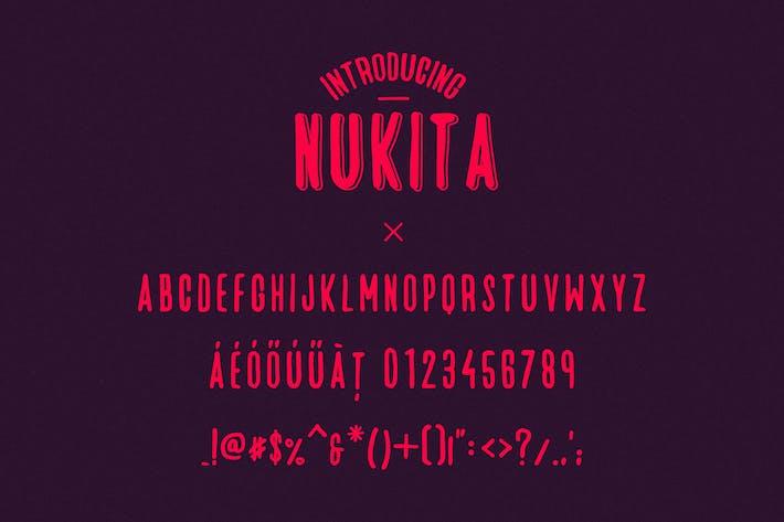 Thumbnail for Nukita - Handmade Font