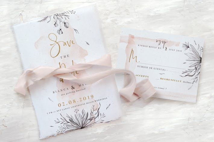 Thumbnail for Classy Watercolor Wedding Suite