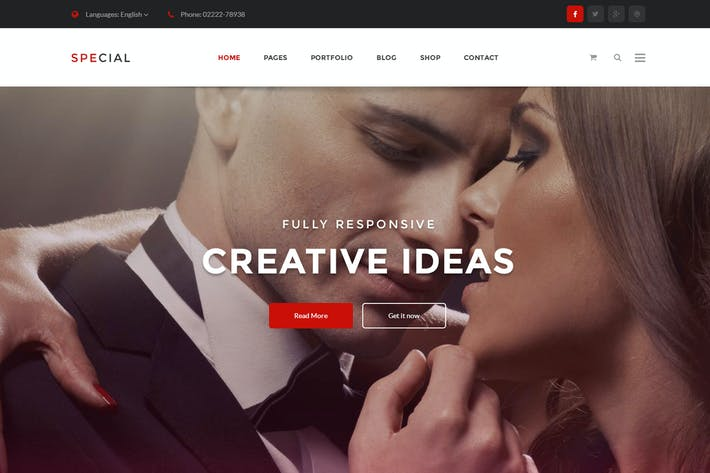 Cover Image For Onepage Business & Corporate Psd Template