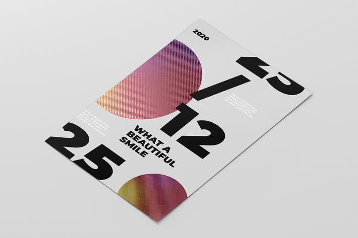 Affiche typographique abstraite