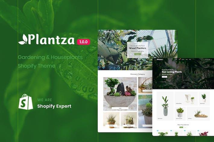 Plantza - Садоводство и Комнатные растения Shopify Тема