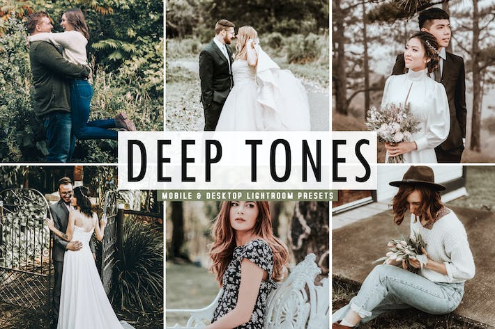 Thumbnail for Deep Tones Mobile & Desktop Lightroom Presets