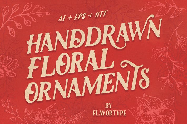 Thumbnail for handdrawn floral ornament
