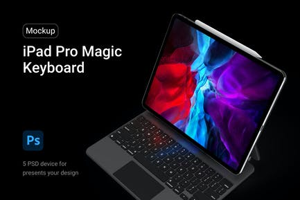 iPad Pro Magic Keyboard Mockup