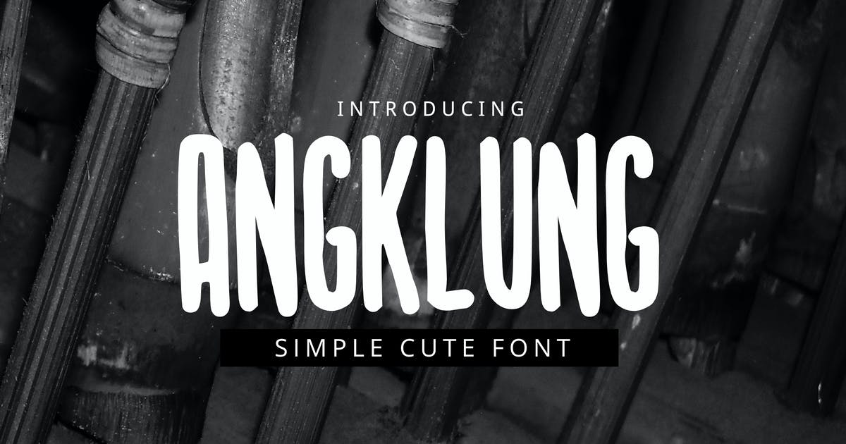 Download Angklung Font by yandidesigns
