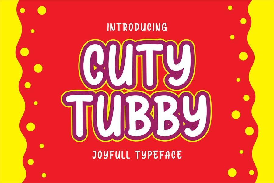 Cuty Tubby - Joyfull Typeface
