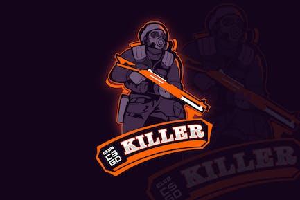 Counter Strike Mascot & eSports Gaming Logo