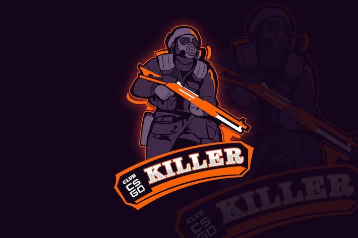 Thumbnail for Counter Strike Mascot & eSports Gaming Logo