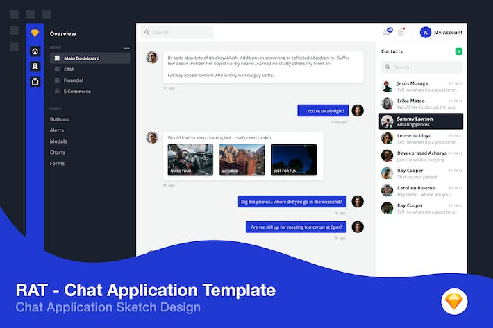 Thumbnail for Chat Application Template