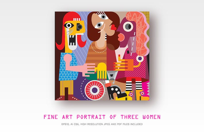 Thumbnail for Modern fine art portrait of Three Women