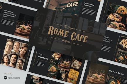 Rome Cafe - Шаблон Keynote