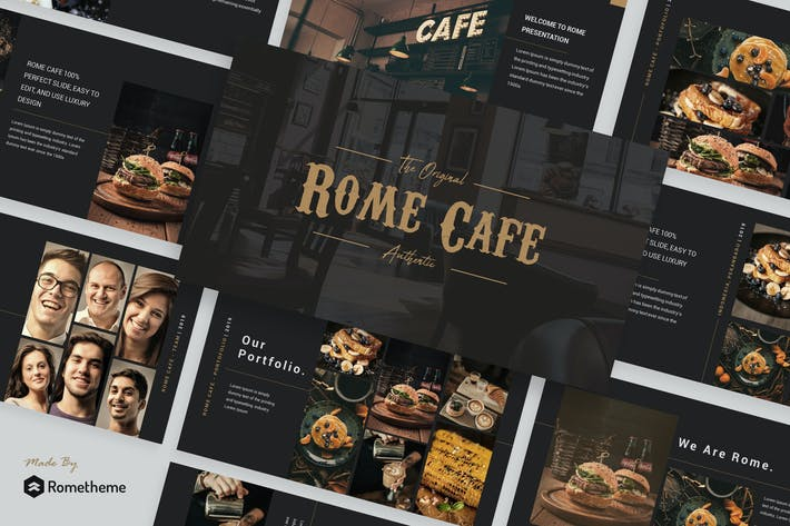 Thumbnail for Rome Cafe - Keynote Template