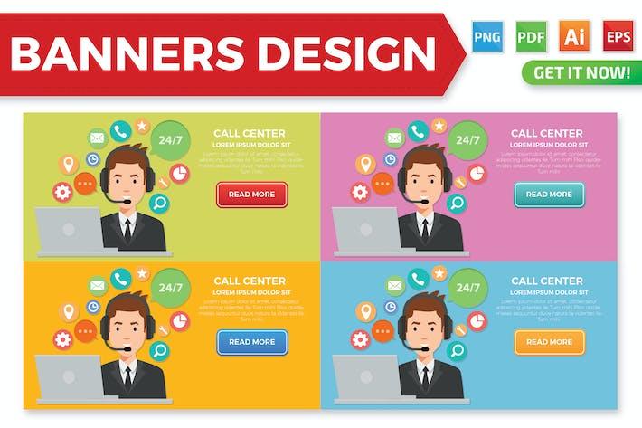 Thumbnail for Call Centre banner design