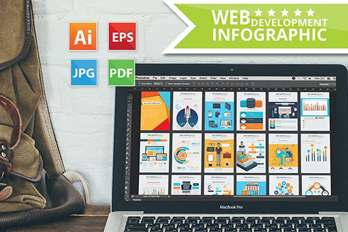 Cover Image For Web Development & SEO Infographics 19 Pages Design