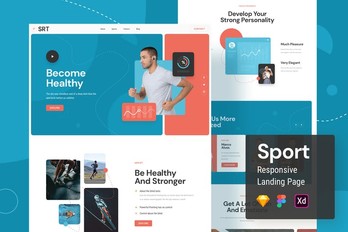 Thumbnail for Sport Responsive Landing Page