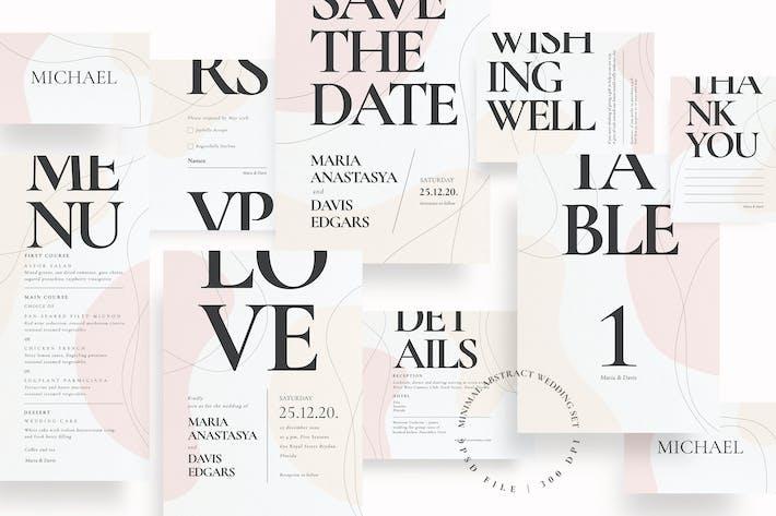 Thumbnail for Ensemble de mariage abstrait minimal AE
