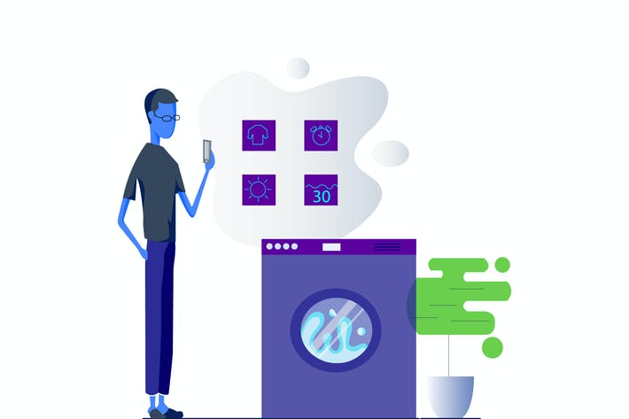 Thumbnail for Smartthing for Washing Machine Illustration
