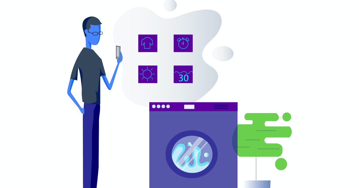 Download Smartthing for Washing Machine Illustration by angelbi88