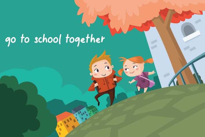 Thumbnail for to School - Vector Illustration