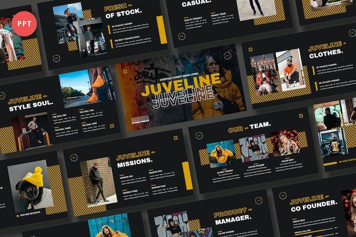 Thumbnail for Шаблон Powerpoint для уличной одежды Juveline