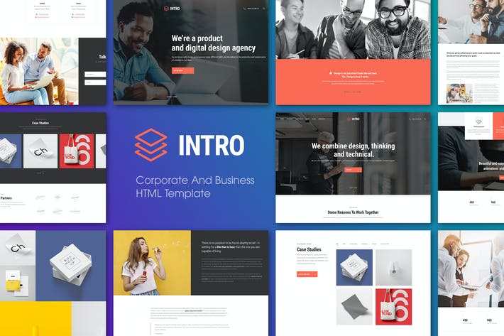 Cover Image For INTRO | Corporate And Business HTML Template