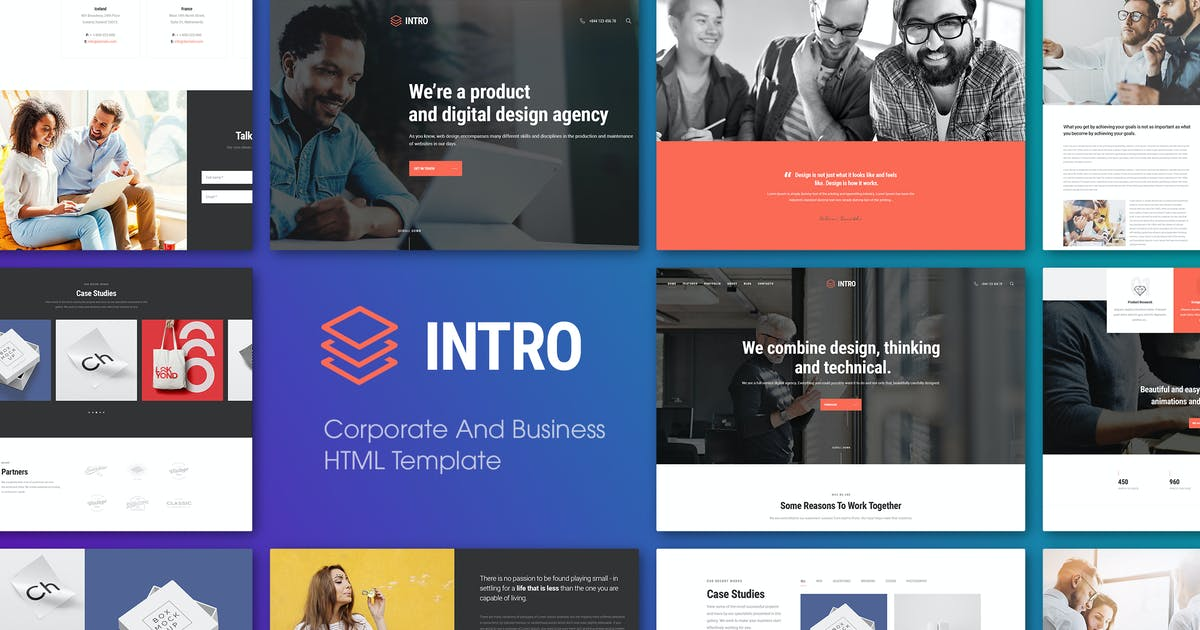 Download INTRO | Corporate And Business HTML Template by EngoTheme